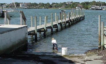 The Harborside boatramp and dock
