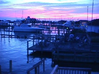 Sunset On The Harborside Deck